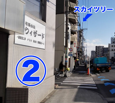 2目印曲がり角